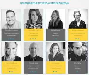 Nos formateurs et spécialistes de contenu Le MOB